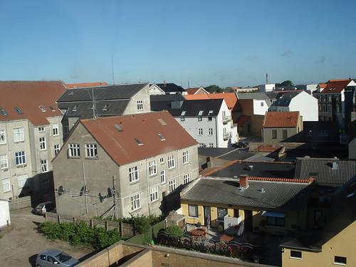 hotellin ikkunasta