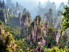 China Travel - Zhangjiajie, Hunan  (Lao Wu Zei) Tags: china travel mountains nature photos unesco favourite   hunan worldheritage  zhangjiajie    550views