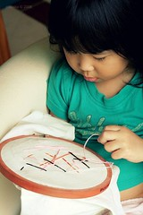 Crafting with Kids : Stitching