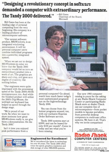 Bill Gates for Tandy 2000