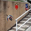 Stairs (mag3737) Tags: art wall stairs rainbow steps feather guessed railing 10up3 guesswherevancouver 13000 pointbuckyhermit