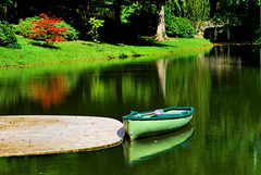 Calmness (Nature) (natureloving) Tags: park lake france nature water boat nikon colours chantilly hbw d40x natureloving lepotagerdesprinces