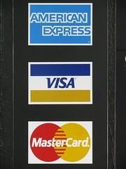 American Express, Visa & MasterCard