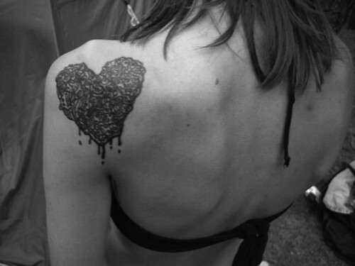 Bleeding Hollow Heart Tattoo