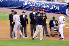 MLB All-Star Game 2008 - Hall of Fame 1st Base (Al_HikesAZ) Tags: nyc newyork game major hall baseball 1st manhattan fame first player professional halloffame players 2008 allstar yankeestadium asg league hof mlb beisbol firstbase  majorleaguebaseball basemen 1stbase alhikesaz nyc2008