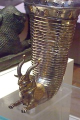 Silver wine pourer depicting a griffin from Altintepe Turkey Persian Mid 6th-5th century BCE (1) (mharrsch) Tags: england silver turkey wine silverware drink persia 6thcenturybce britishmuseum gilded mythology griffin mharrsch
