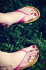 _MG_8077-Edit (k.a. gilbert) Tags: feet vintage foot toes sandals thongs barefoot kristen wife barefeet pedicure milf toenails lightroom