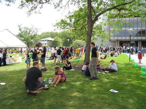 Ithaca College Convocation Picnic Crowd