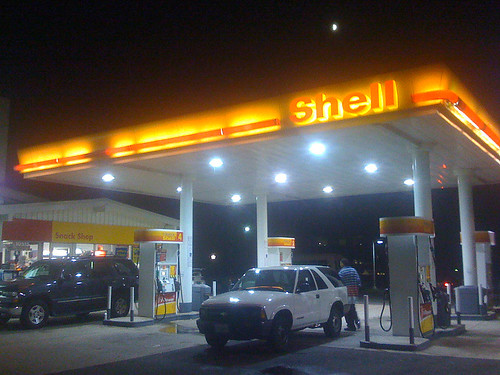 Shell gas station in Kensington, Maryland - Taken With An iPhone