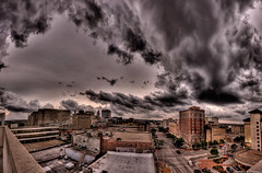 """Yet another """"end of the world, your doom is coming to Lincoln"""" storm HDR panorama (Robert Wurth - Studio Orange Photography) Tags: panorama storm nebraska downtown lincoln hdr 3xp sigma1020mmf456exdchsm canoneos40d nebraskathunderstorms"""