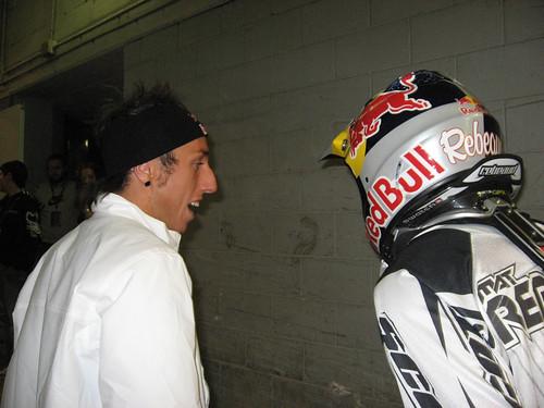 Tonino Cairoli scherza con Mat Rebeaud