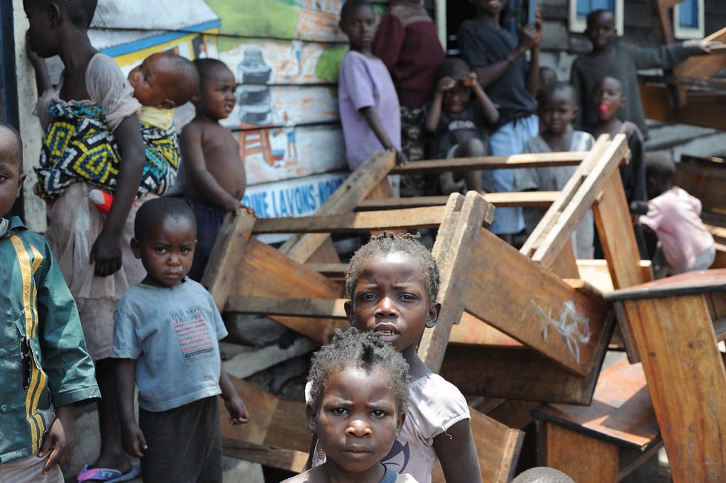 Sfollati in Congo a causa della guerra