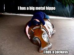 i has a big metal hippo