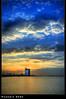 What a Wonderful World [HDR] (Hussain Shah.) Tags: world sunset beach wonderful d50 nikon sigma kuwait 1020mm hdr shuwaikh shah hussain cokin gnd