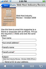 WHIR Magazine Share October 2008 Issue for iPhone