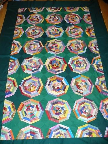 Spiderweb quilt top