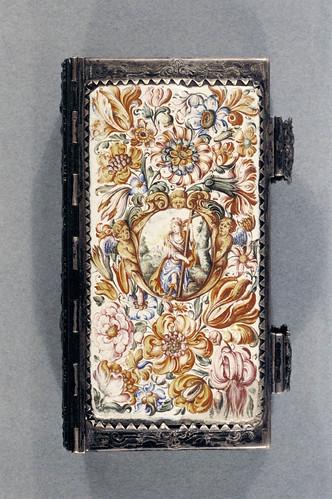 006- Libro con cubierta esmaltada y adornos de plata- Alemania 1683