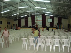 A view of the Agua Viva church in Las Choapas, Veracruz before the people arrived