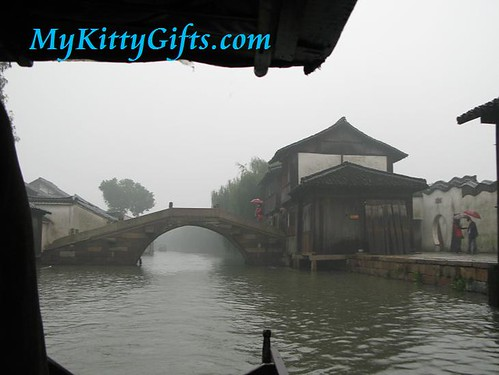 Hello Kitty enjoying Boat Trip in Wu Zhen