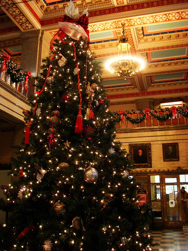 asheville courthouse christmas tree