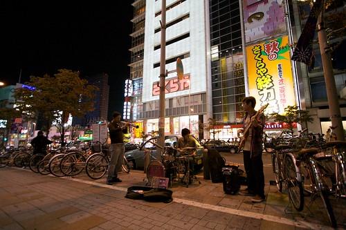 Shinjuku by night in Tokyo
