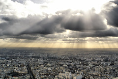 Paris skyline from Montparnasse (Martijn Kapper) Tags: wallpaper paris france skyline sony alpha montparnasse parijs a100