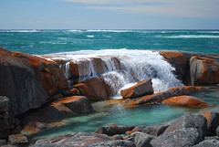 Rocks & Cascades, Bay of Fires, Tasmania (stephenk1977) Tags: orange gardens bay coast nikon rocks australia east tasmania lichen tas fires cascade the d60