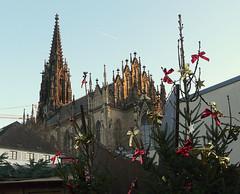 Elisabethenkirche (Marlis1) Tags: sunset church switzerland kirchen basel neogothic protestant marlis1