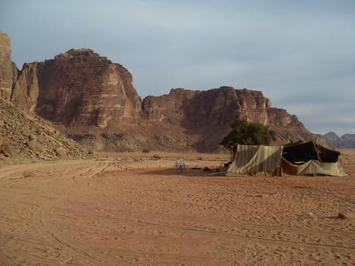 A Tent in Wadi Rum, Jordan