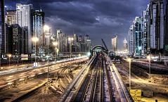 Dubai Metro (momentaryawe.com) Tags: train dubai traffic uae emirates busy hdr dubaimarina sheikhzayedroad metroline dubaimetro