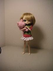 Hujoo/Obitsu hybrid with arugumi pig (nonaptime) Tags: pig 21 crochet cm custom bratz faceup obitsu arugumi 21cm fashionfever hujoo