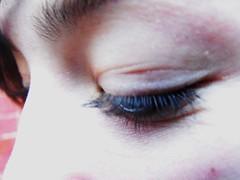 Are you closed (bhwilterdink) Tags: eyebrow eyelash closedeye