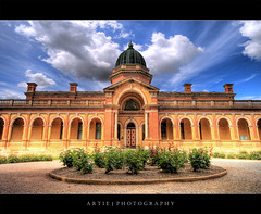 The Court House, Goulburn :: HDR (:: Artie | Photography ::) Tags: roof sky building architecture clouds photoshop canon court garden cs2 tripod australia wideangle arches courtyard structure symmetry historic dome copper newsouthwales courthouse 1020mm hdr artie goulburn 1887 3xp sigmalens photomatix tonemapping tonemap 400d rebelxti sirfrederickdarley