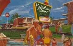 Holiday Inn - Hyannis, Massachusetts (The Cardboard America Archives) Tags: vintage postcard motel holidayinn