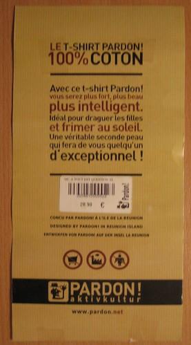 Etiquette T-Shirt Pardon!