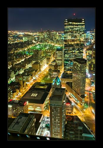 Bird's eye view of Boston