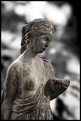 Last Girl Standing.... (Gema Saiz fine art photography) Tags: blackandwhite sculptures visualart duotones otw flickrelite maideninstone