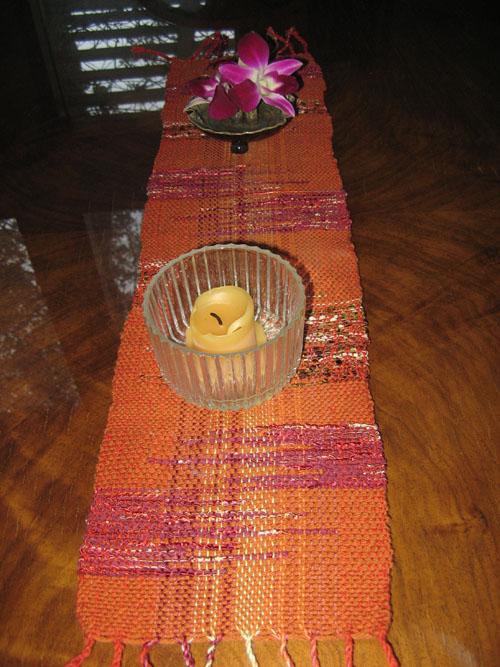 Saori Table Runner