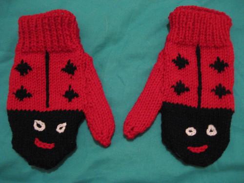 ladybug mittens