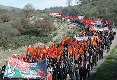 KNE FOR PALESTINE ASTAKOS (solidnet_photos) Tags: youth war europe palestine protest communist greece solidarity genocide gaza intifada peloponese kne astakos massaction militaryport usweappons