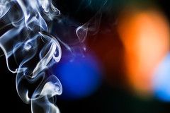 Smoke and TV (cocoip) Tags: light macro closeup eos tv dof bokeh smoke 5d incense  markii  ef85mm ef85mmf12liiusm  canoneos5dmarkii 5dmarkii 5d2 5dii 5dmark2 eos5dmarkii