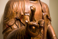 Finger Sign Looks Familiar (Orin Zebest) Tags: statue museum hand fingers buddhism shocker asianartmuseum theshocker