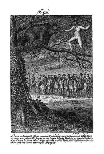 008- Viernes haciendo bailar a un oso en la rama de un arbol