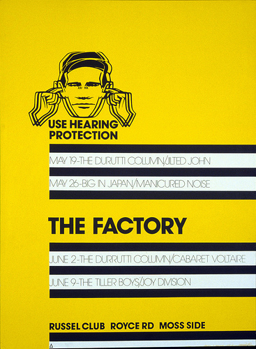 The Factory Poster. Peter Saville, 1978