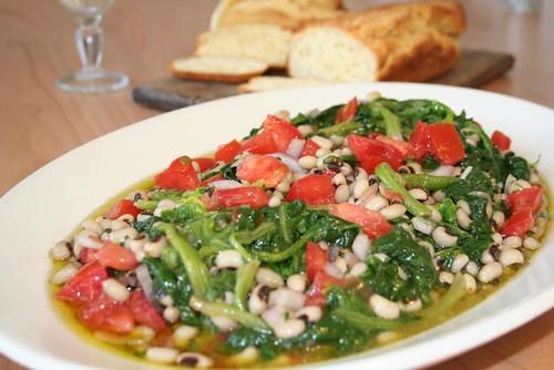 Spinat und Bohen Salat