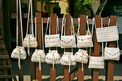 Macramé Bags (Patricia Fenn) Tags: wedding rural canon greek photography souvenirs photographer village craft greece gifts crete local bags ethnic fodele patriciafenn gettyimagesgreece1 patriciafenngallerycom
