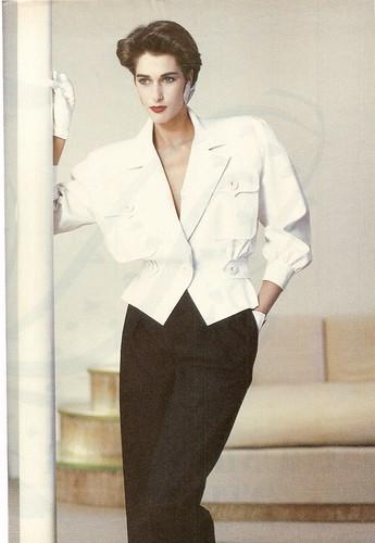 Yves st laurent white jacket