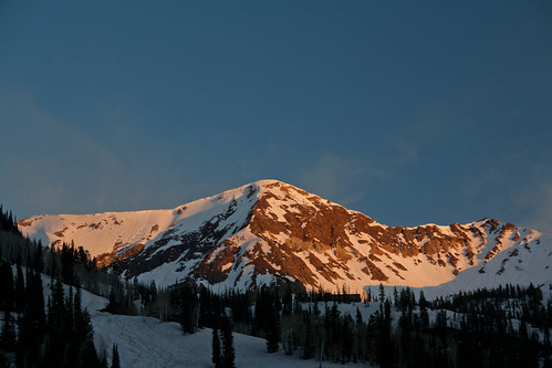 Sunset over Snowbird