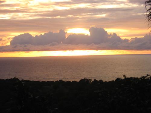 Sunset in Roatan.