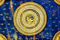 celing motif (Avanibhajana) Tags: india art heritage motif painting temple colours bright ceiling colourful krishna thanjavur tamilnadu southindia brihadiswara